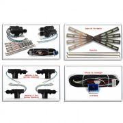 Kit Travas Elétricas Universal 4 Portas Mono Serventia