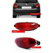 Lanterna Neblina Acrilico Para-choque Traseiro Peugeot 206