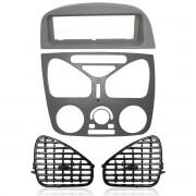 Moldura Central Com Ar Rádio Sem Furo Difusor Palio G2 Siena