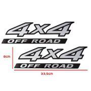 Par Adesivo 4x4 Off Road Nissan Frontier 2009 Aço Escovado
