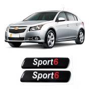 Par Adesivo Resinado Coluna Porta Cruze Hatch Sport 6