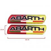 Par Adesivo Resinado Coluna Porta Fiat Abarth Vermelho