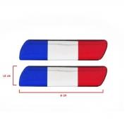 Par Adesivo Resinado Coluna Porta Universal Bandeira França