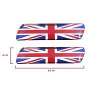 Par Adesivo Resinado Coluna Universal Bandeira Inglaterra