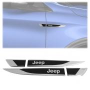 Par Aplique Adesivo Lateral Resinado Jeep Renegade