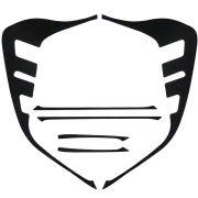 Par Aplique Adesivo Máscara Negra Lanterna Cobalt 2012 2015