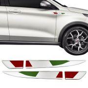Par Emblema Adesivo Resinado Aplique Lateral Italia