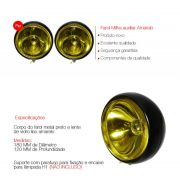 Par Farol Milha Auxiliar Amarelo Fusca Super Oscar 180mm