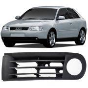 Par Grade Moldura Farol Milha Audi A3 2001 a 2007 Com Furo
