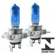 Par Lâmpada Super Branca Efeito Xenon H4 Homologado Inmetro