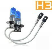 Par Lâmpada Super Branca H1 H3 Homologada Inmetro