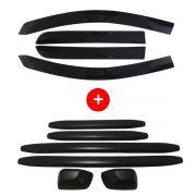 Super Calha Chuva Defletor + Kit Bumper Protetor Para-choque