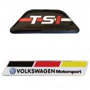 Tampa Suporte Tsi Preto - Adesivo Resinado Vw Motorsport