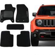 Tapete Carpete Jeep Renegade Preto 5 peças