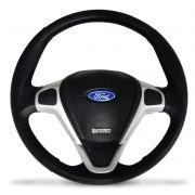Volante Titanium Prata Com Cubo Ford Ka Fiesta Ecosport
