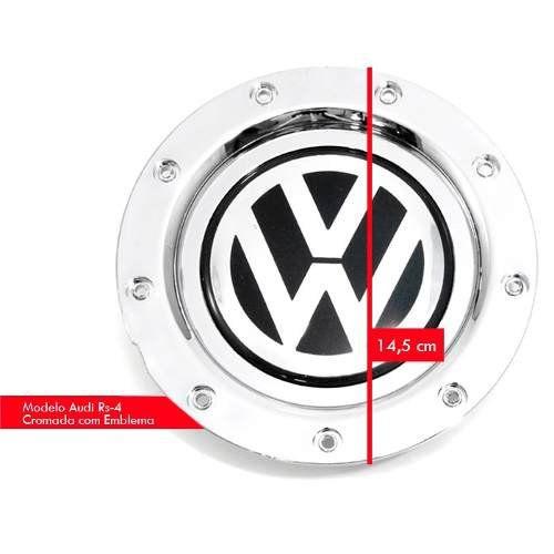 Calota Centro Roda Audi Rs4 Cromado Emb Vw