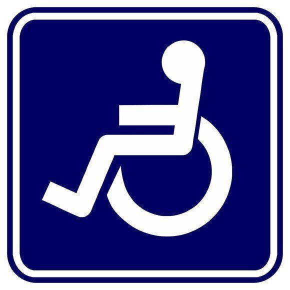 Adesivo Aviso Deficiente Físico Cadeirante 5x5cm Carro - 4un