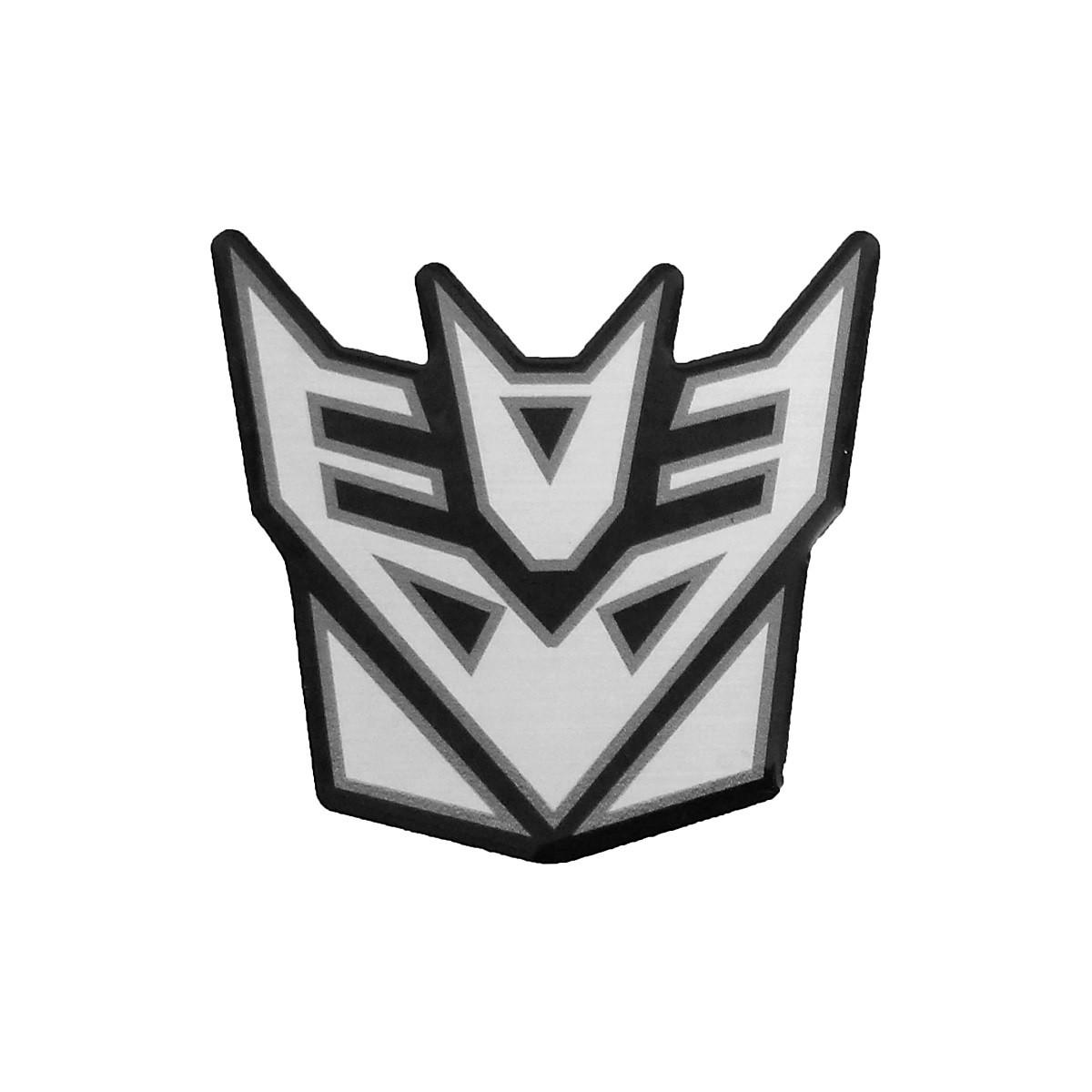 Adesivo Emblema Transformers Decepticons Resinado Aço Escovado