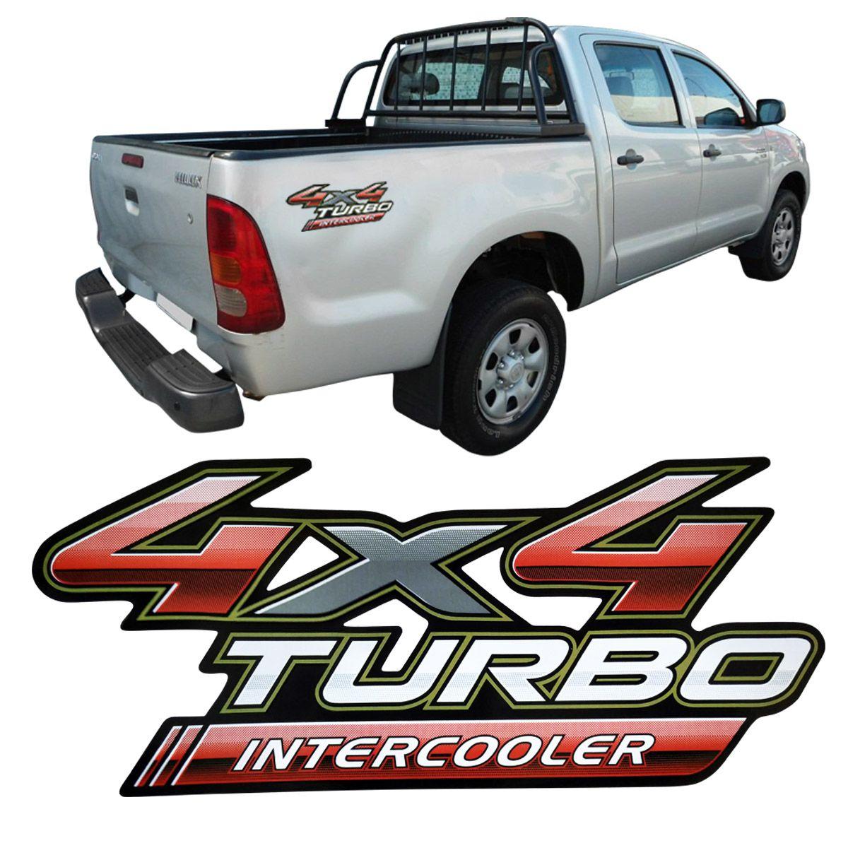 Adesivo Lateral Traseiro Hilux 4x4 Turbo Intercooler Diadema