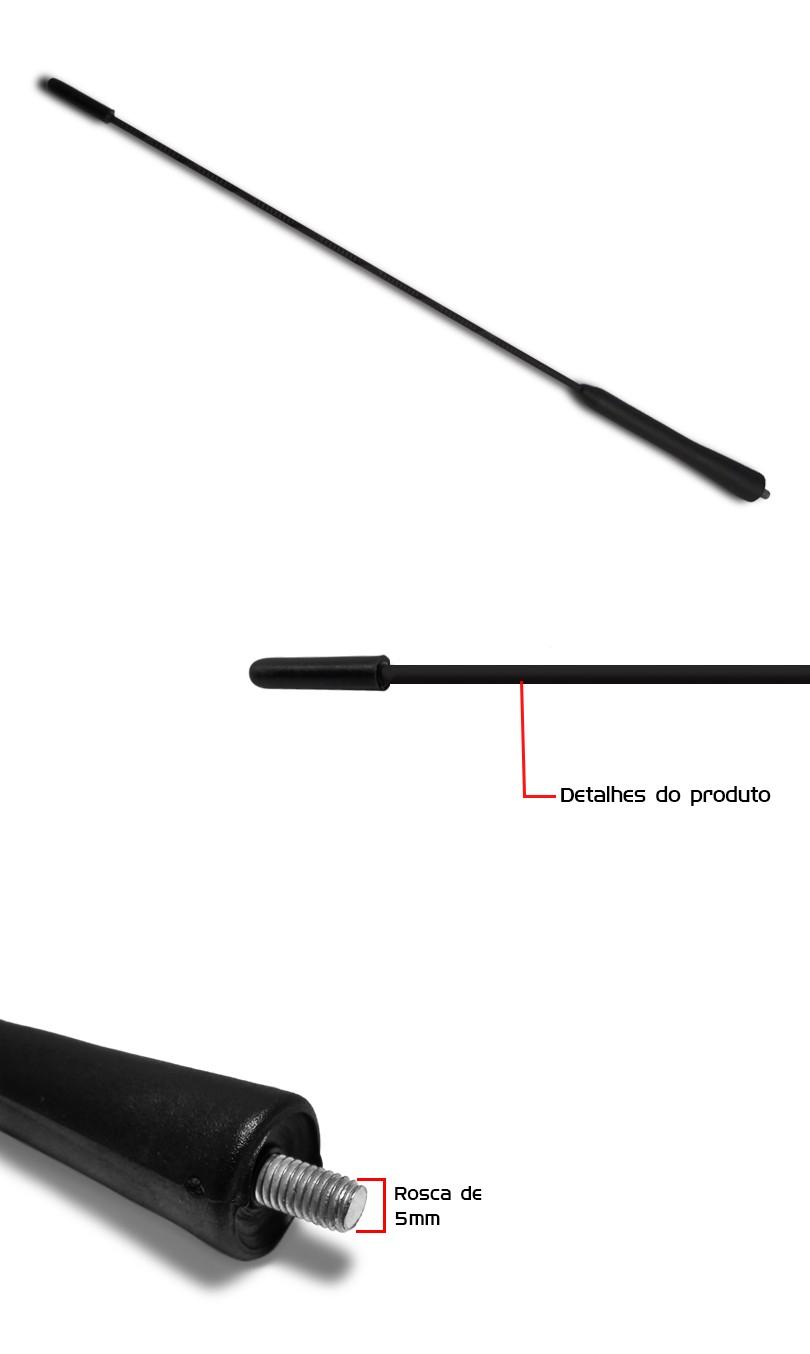 Antena Teto M5 + Borracha Anel de Vedação com Esguicho Astra