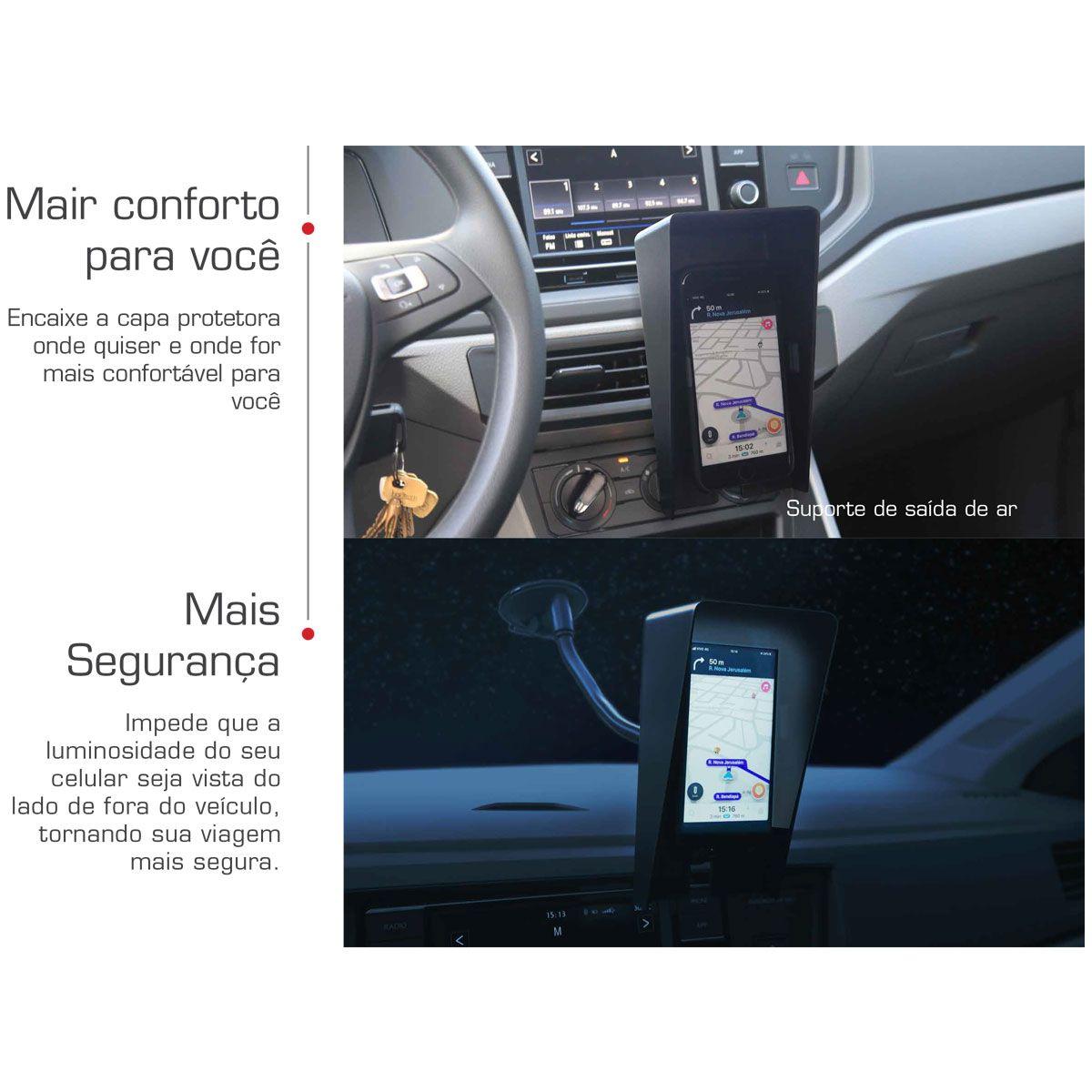 Capa Protetora Suporte Celular Gabinete Alojamento Automotiv