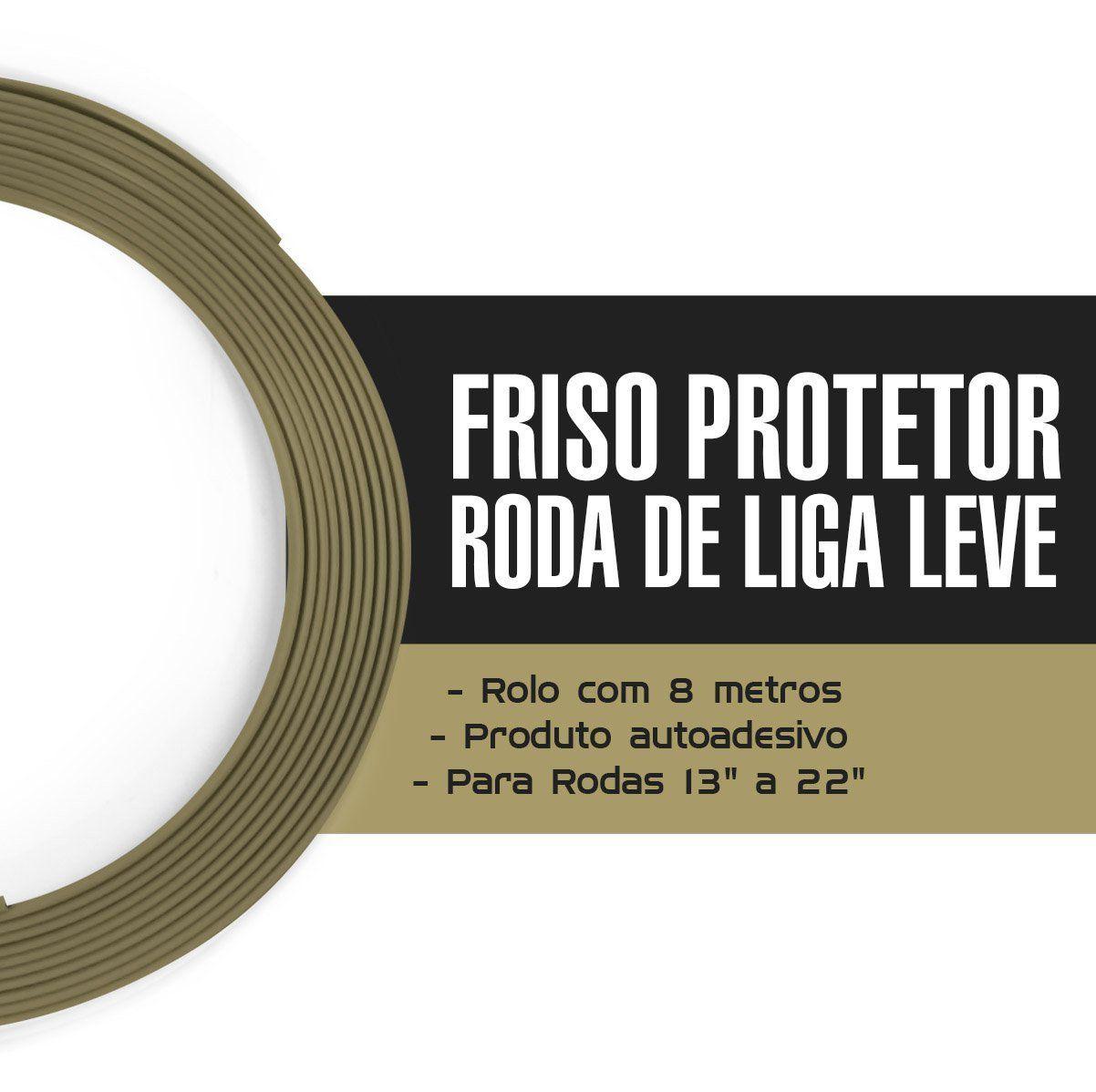 Friso Protetor Roda Liga Leve Esportiva Tuning 8m - Bronze
