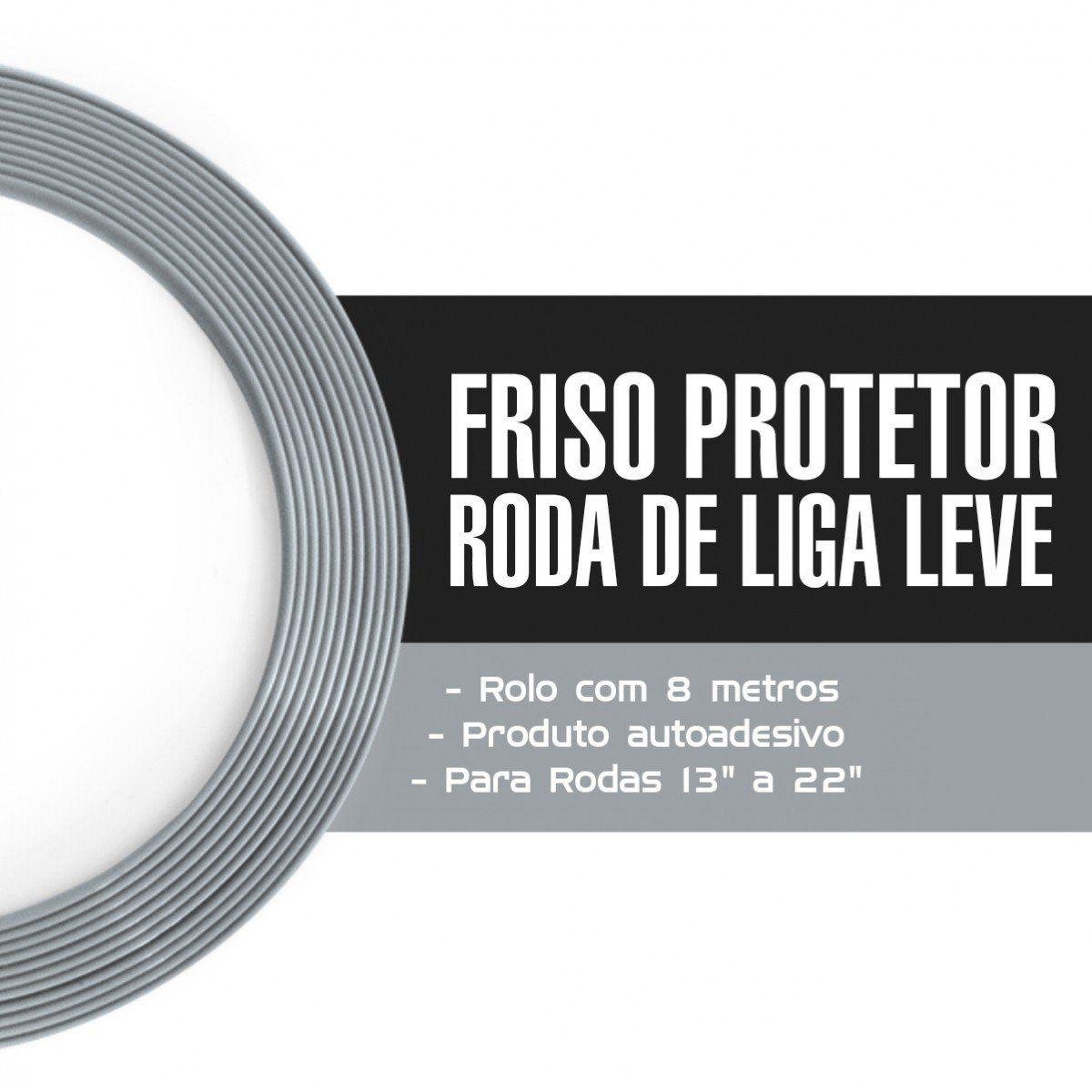 Friso Protetor Roda Liga Leve Esportiva Tuning 8m - Cinza
