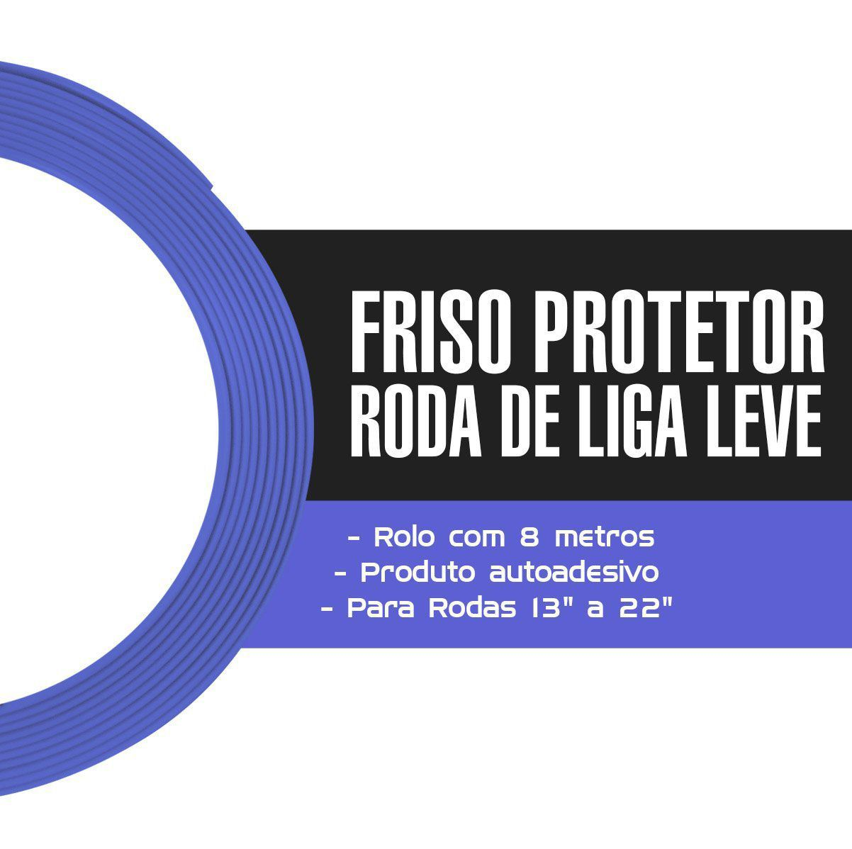 Friso Protetor Roda Liga Leve Esportiva Tuning 8m - Lilás