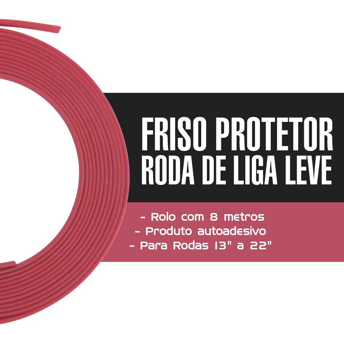 Friso Protetor Roda Liga Leve Esportiva Tuning 8m - Rosa