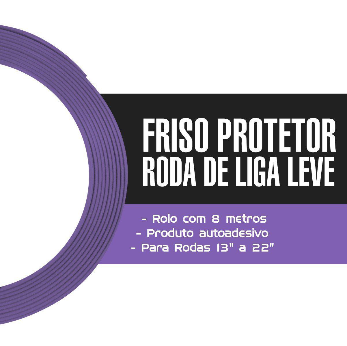 Friso Protetor Roda Liga Leve Esportiva Tuning 8m - Roxo