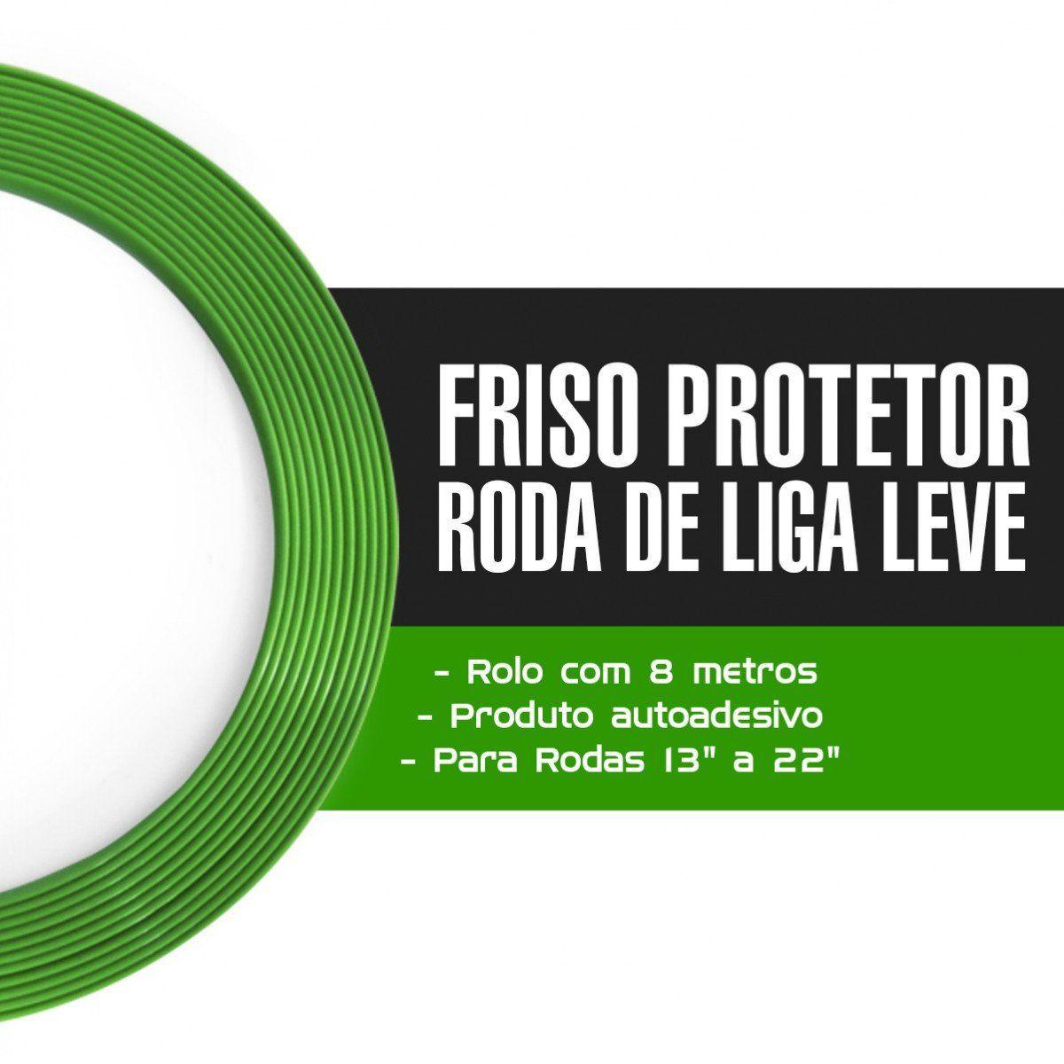 Friso Protetor Roda Liga Leve Esportiva Tuning 8m - Verde