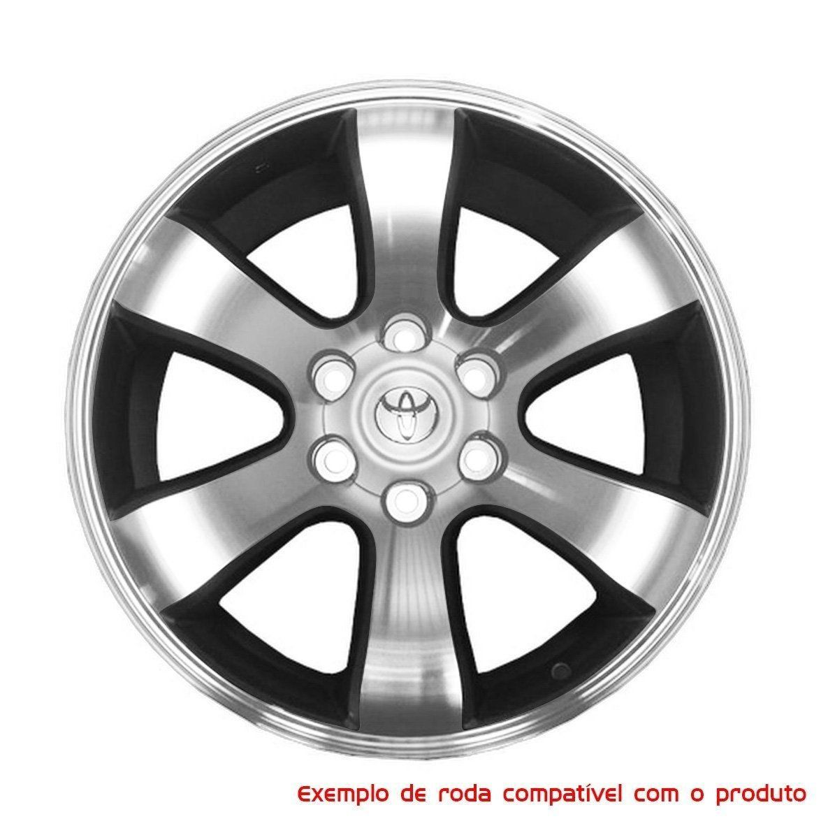 Jogo 4 Calota Miolo De Roda Toyota Hilux Prado Z160 - Prata