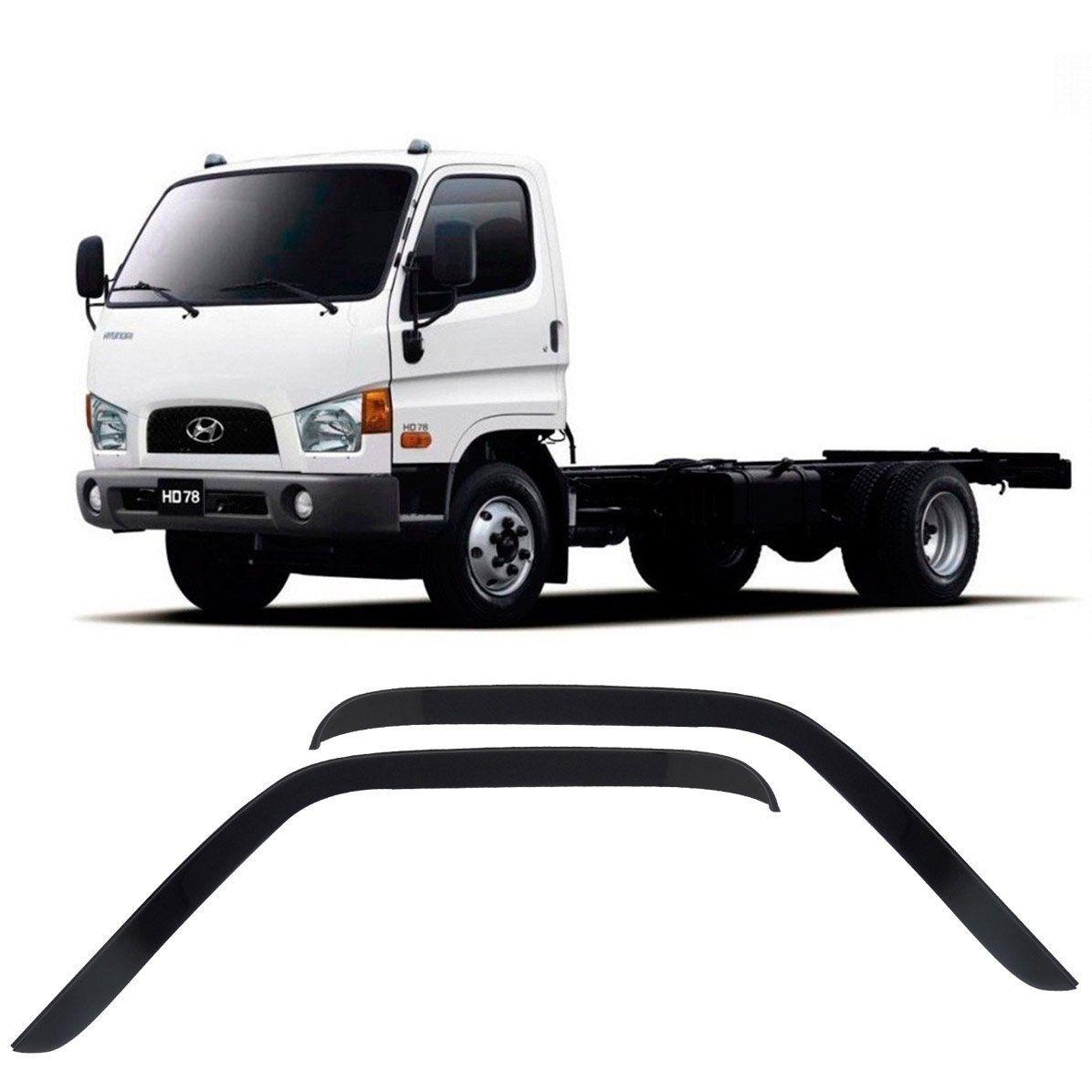 Jogo Calha Chuva Acrilica Caminhao Hyundai Hd 78 - 2 Portas