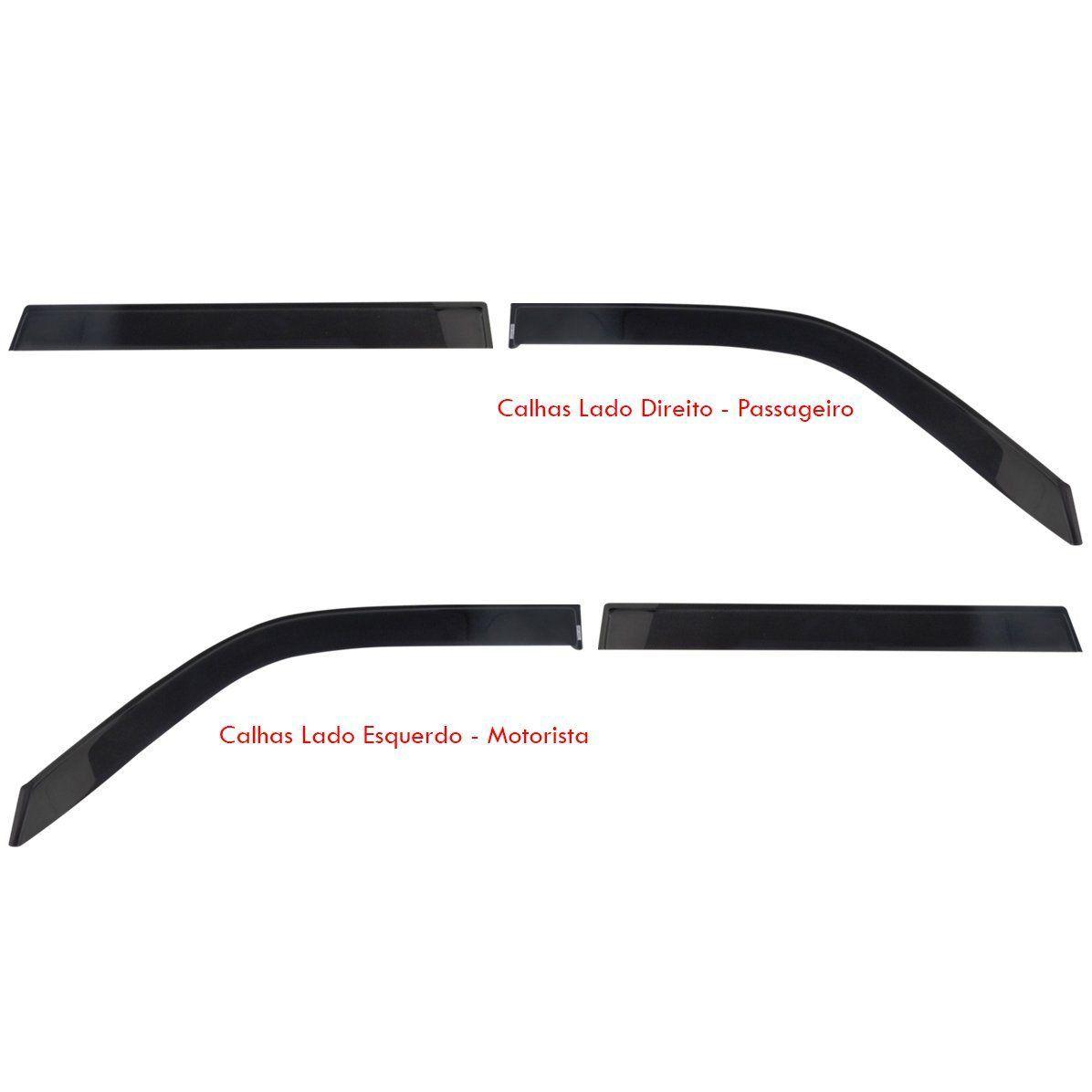 Calha Chuva Acrilica Mitsubishi Pajero Sport - 4 Portas