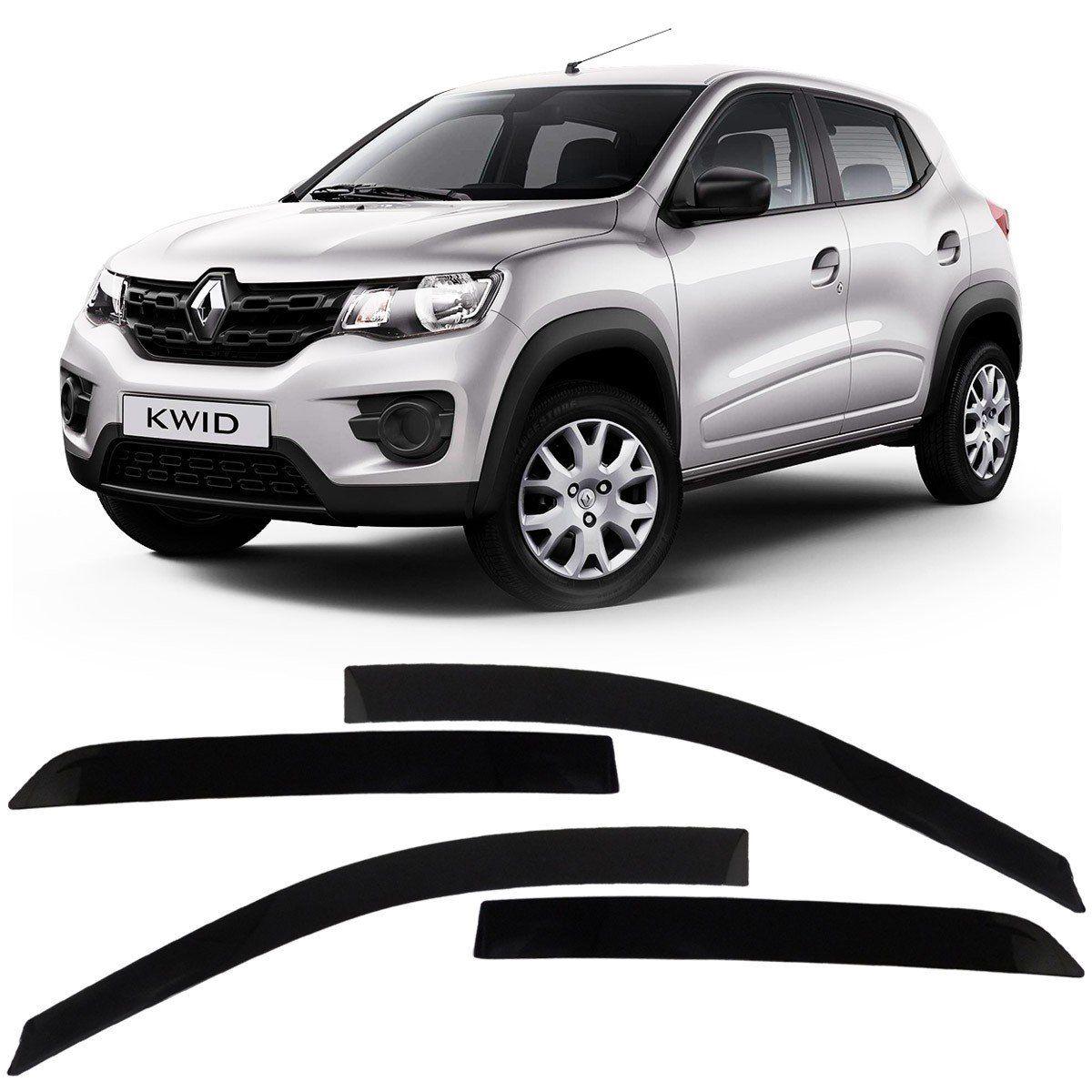 Calha Chuva Acrilica Renault Kwid 2017 a 2021 - 4 Portas