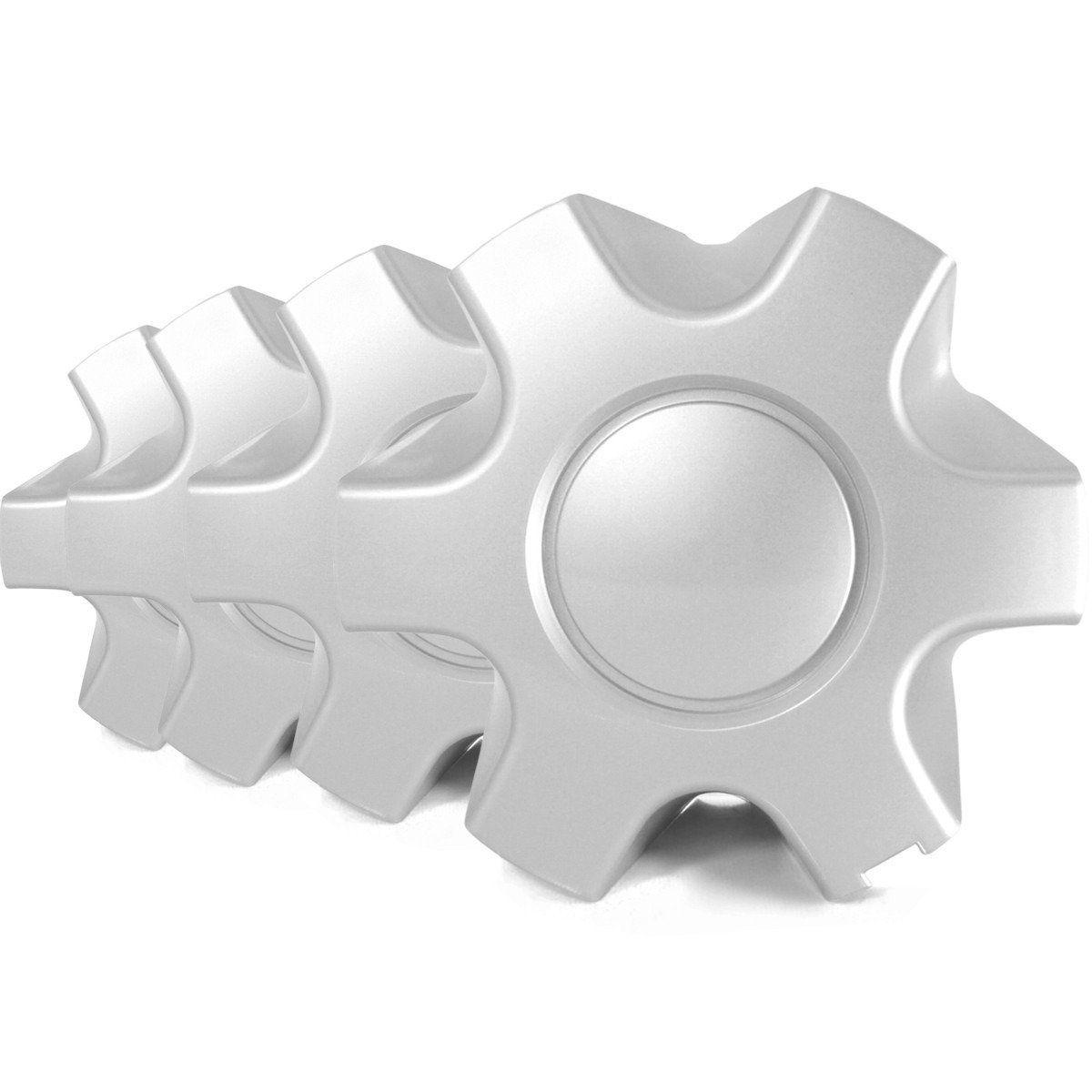 Jogo Calota Miolo Roda Prata Mitsubishi L200 Gls Triton