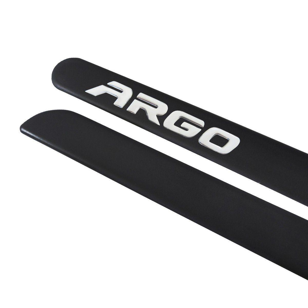 Jogo Friso Lateral Borrachão Fiat Escrita Argo 2017 18 19