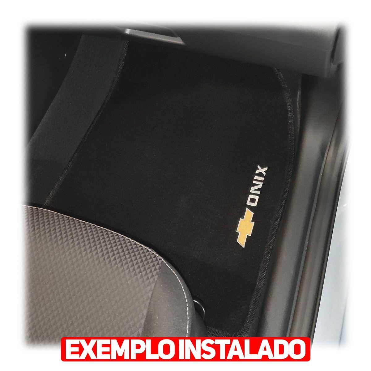 Jogo Tapete Carpete Onix Hatch 2020 - Preto