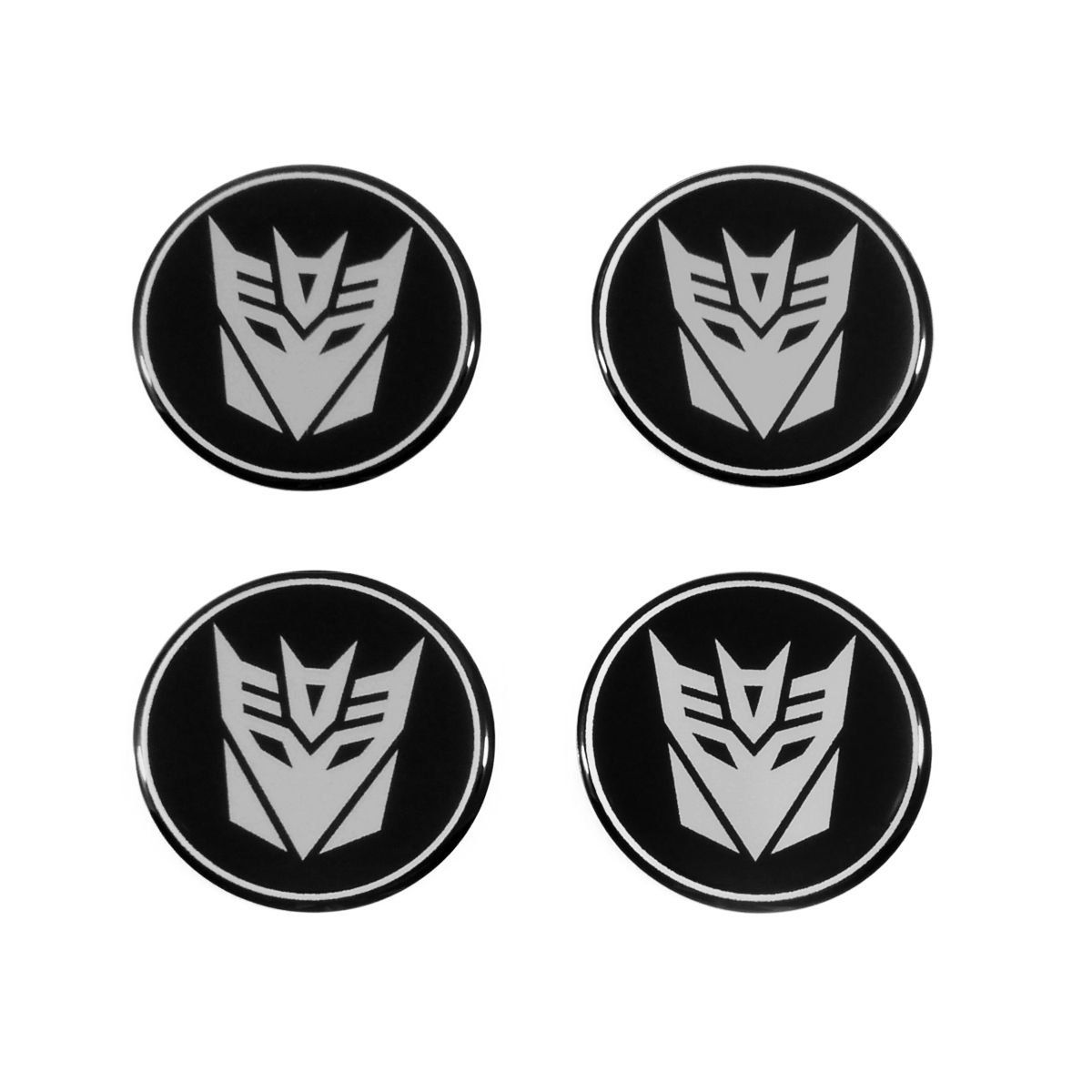 Kit 04 Emblema Roda 48mm Resinado Transformers Decepticons