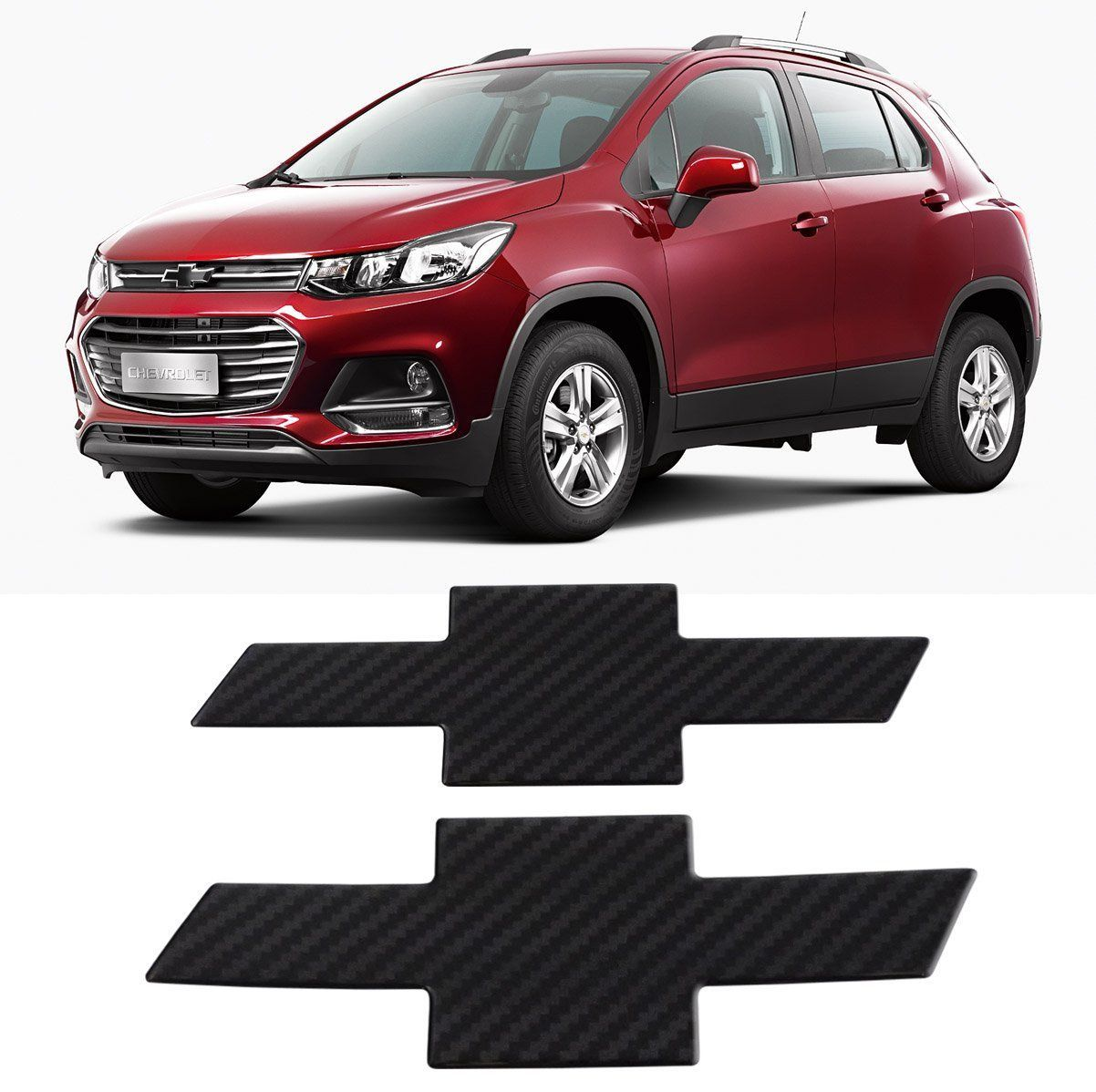 Kit Adesivo Emblema Resinado Carbono Gm Tracker 2017 2018