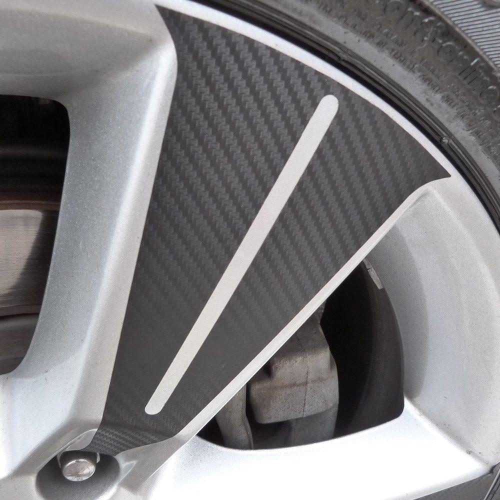 Kit Adesivo Roda E Emblema Miolo Roda Fibra Carbono Tracker