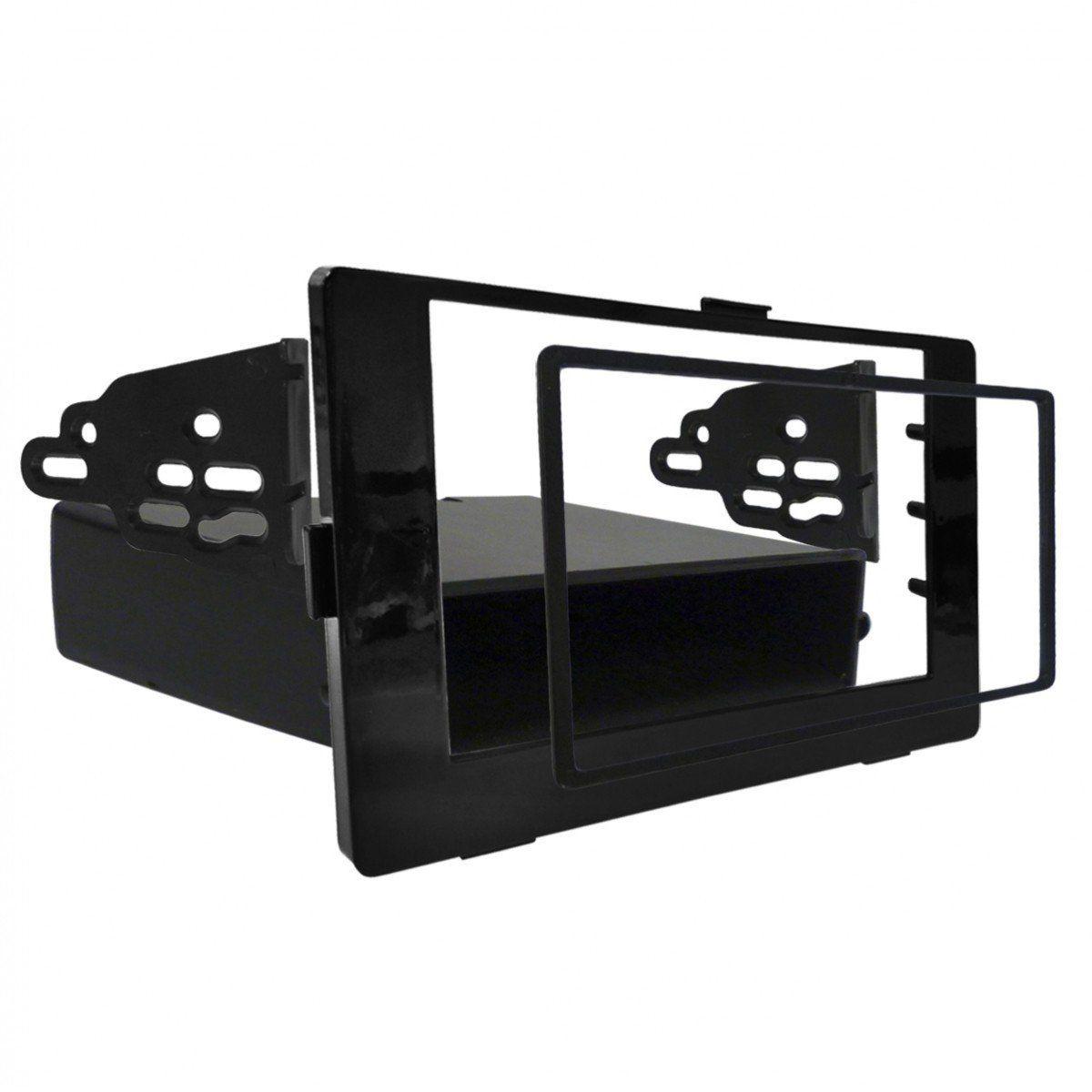 Moldura Painel Dvd Rádio 2Din 1Din Corolla 2018 Black Piano