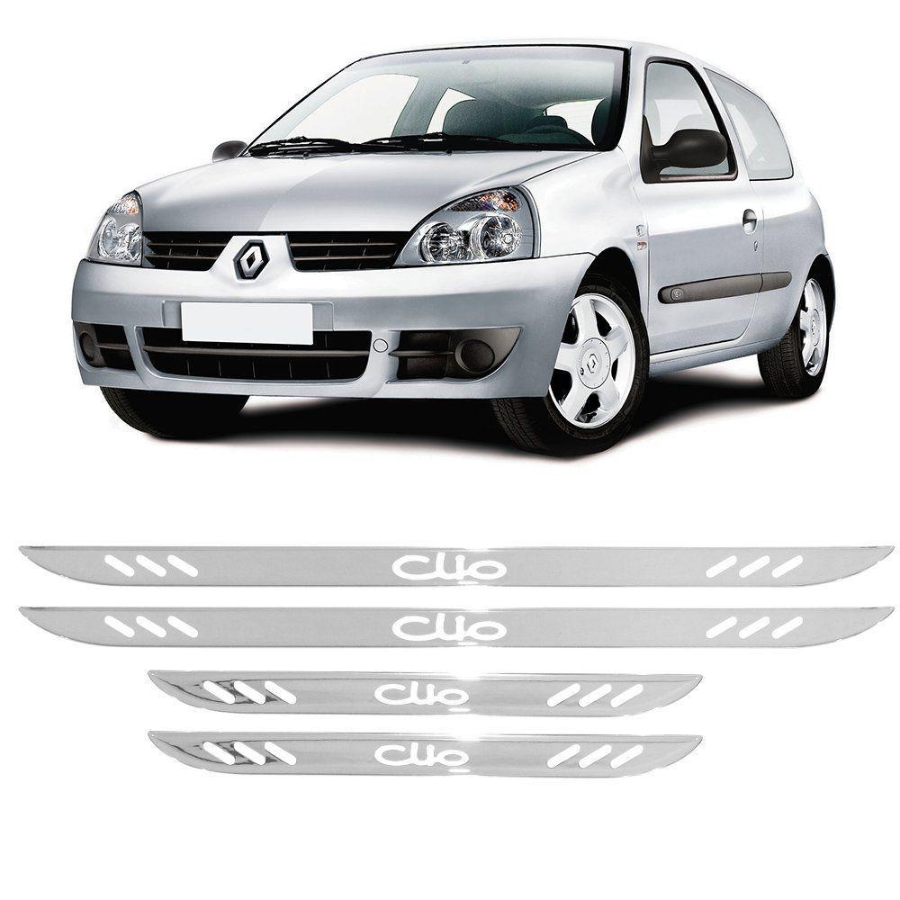 Soleira Cromada Resinada Vazada Clio 1995 a 2016 4pçs
