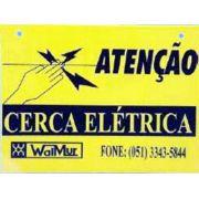 PLACA INDICADORA DE CERCA ELÉTRICA - EMB. C/ 6