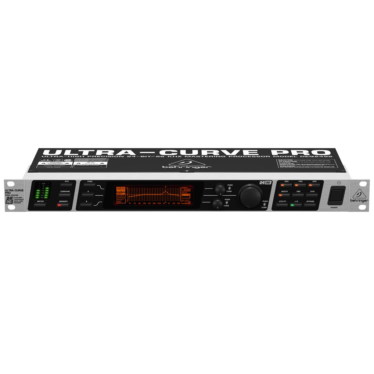 DEQ2496 - Equalizador Gráfico 31 Bandas Ultracurve PRO DEQ 2496 - Behringer
