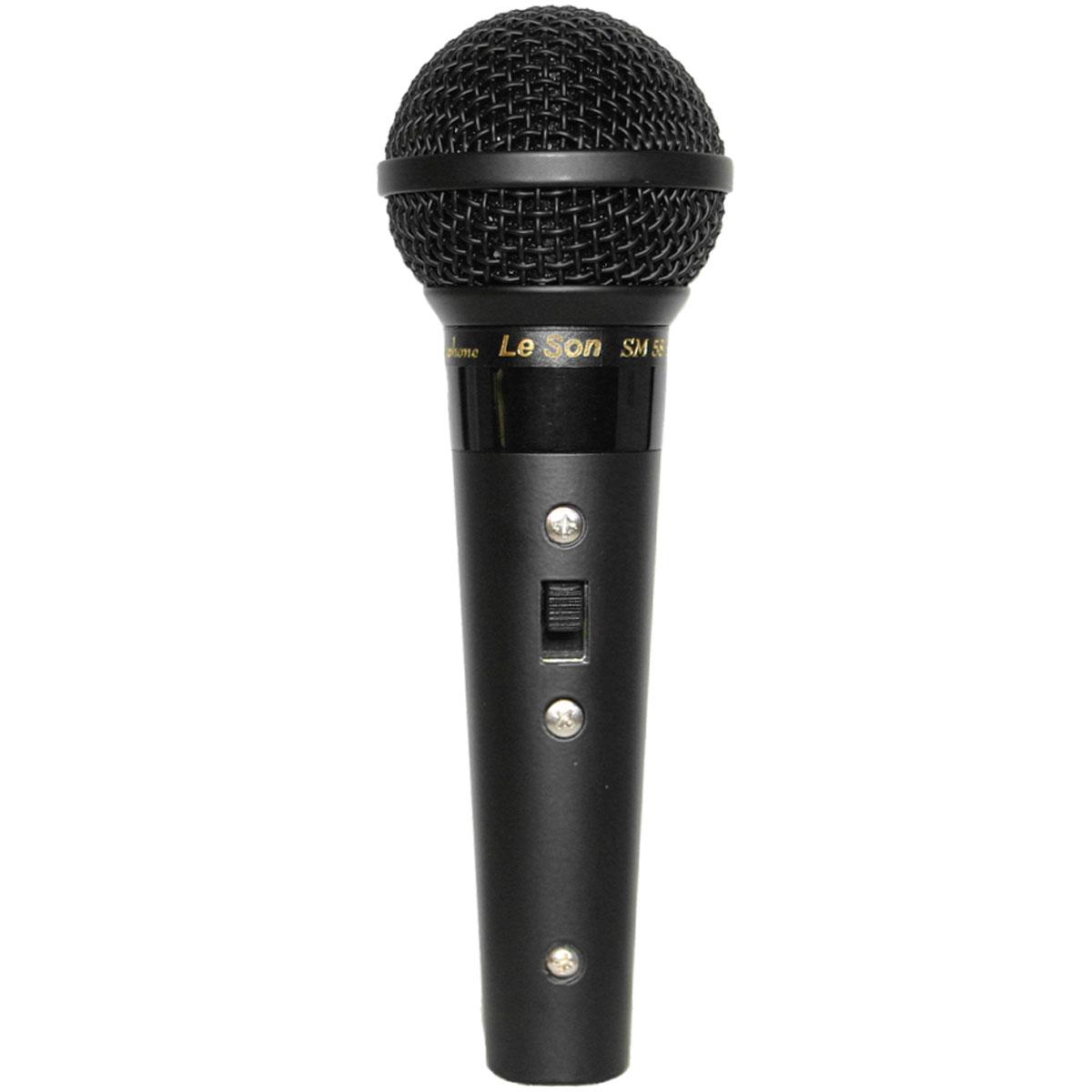 Microfone c/ Fio de Mão - SM 58 B Le Son