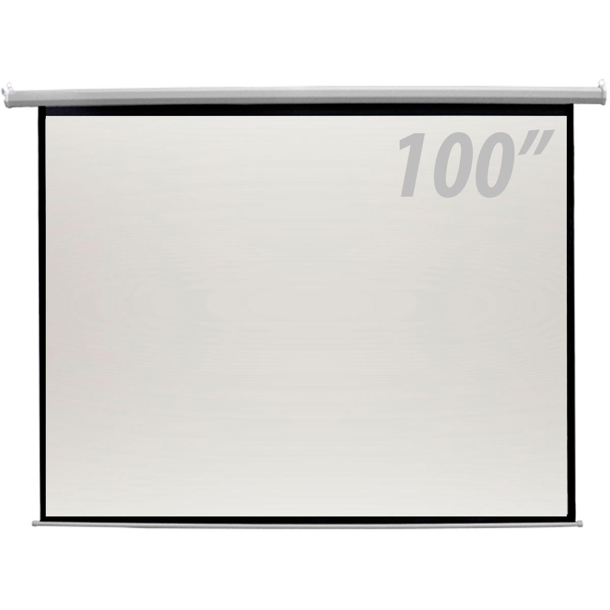 Tela de Projeção 100 Polegadas Elétrica c/ Controle Remoto - CSR