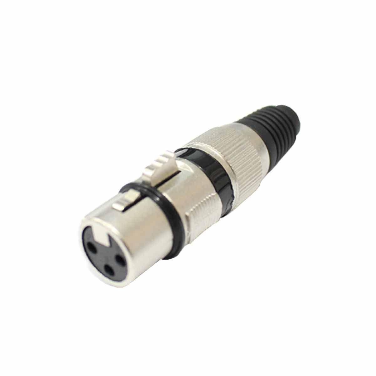 Conector Cannon XLR Fêmea Linha - Q 33 BK CSR