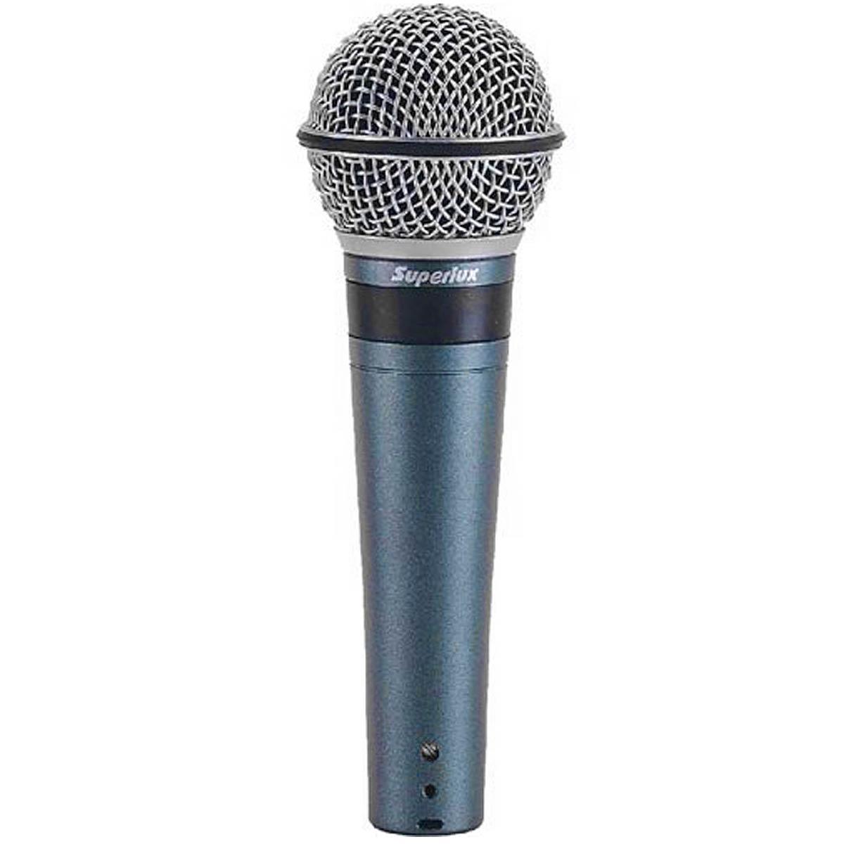 Microfone c/ Fio de Mão Dinâmico p/ Estúdio - PRO 248 Superlux