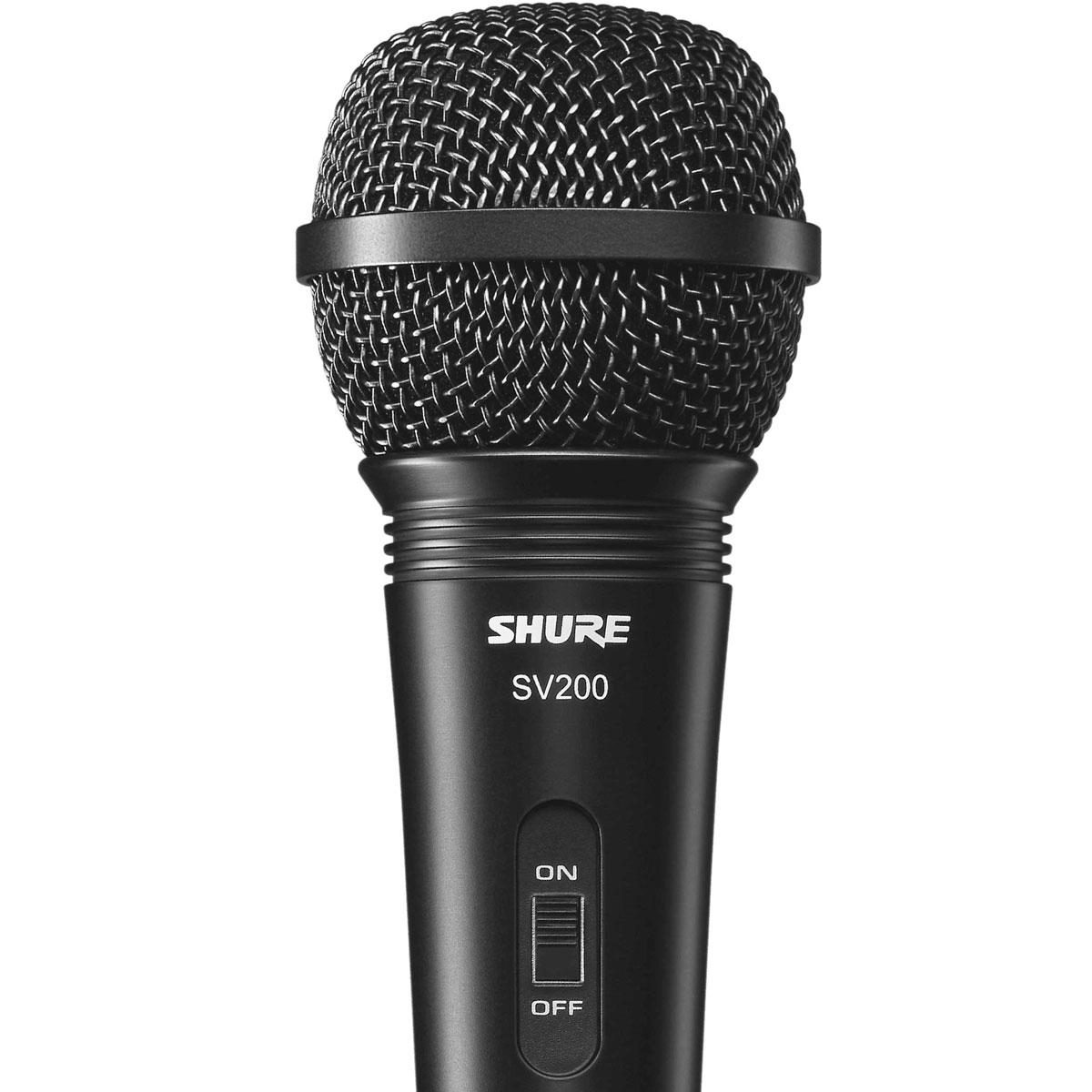 Microfone c/ Fio de Mão Dinâmico - SV 200 Shure